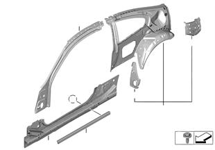 Raamwerk zijkant-onderdelen
