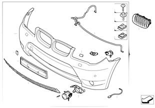Trim panel, bumper, front aerod.pckage II