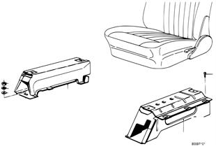 Front seat-seat riser