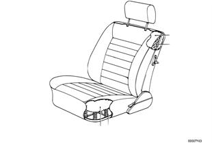 Κάθισμα μπροστά-σούστες/αφρώδες υλικό