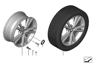 BMW LA wheel, Double Spoke 385