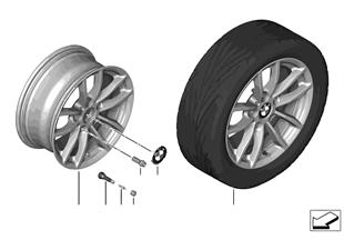 BMW 輕合金車輪 V 式輪輻 378