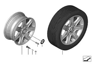 BMW 輕合金車輪 星式輪輻 377