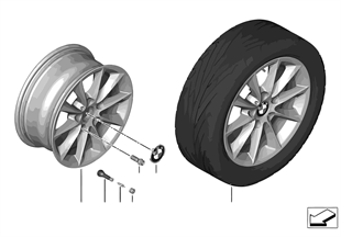 BMW 輕合金車輪 V 式輪輻 411