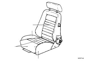 Σπορ κάθισμα Recaro, επένδυση καθίσματος