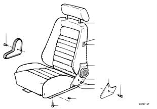 Σπορ κάθισμα Recaro, μηχαν.ανάκλ.καθίσμ.