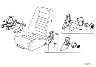 Recaro sports seat-recl. seat fitting