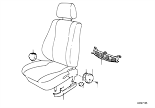 Seat front seat coverings