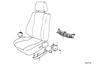 Fotel przedni, osłony fotela