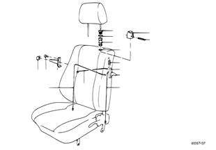 Κάθισμα μπροστά μηχανισμός απασφάλισης