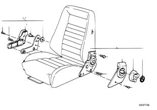 Recaro sportstoel-ligstoelappendages