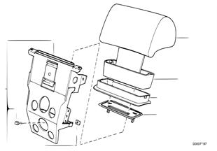 Apoyacabezas trasera mecanico