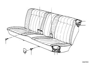 Fotel tylny, trzpień sprężyny/pokrycie