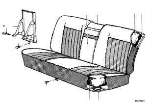 Núcleo de muelle/capa de asiento trasero