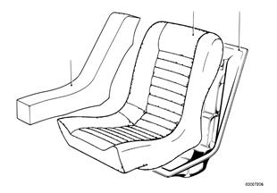 Κάθισμα πίσω αφρώδ.υλικό/κέλυφος καθίσμ.