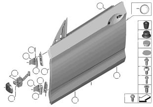 Porta anteriore-cerniera/freno porta