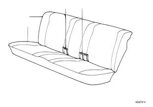 Rear seat parts