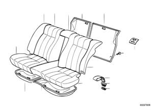 Durchlade/Sitz hinten
