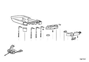 BMW sportovní sedadlo jednotlivé díly
