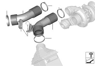 Conduta ar intercooler/turbocompressor
