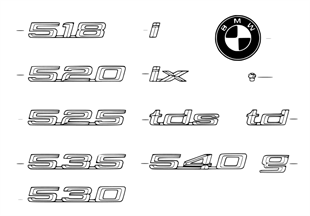 Emblemas / diciture