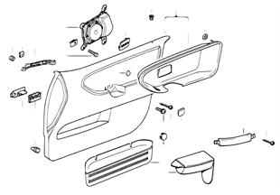 Individual door trim panel, cloth, front