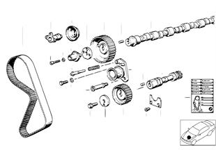 制御駆動装置コッグドベルト/カムシャフト