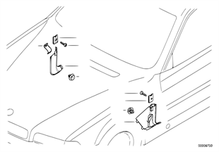 Bekleding zijdelings voetruimte