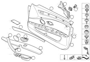 Door trim panel, front / side airbag