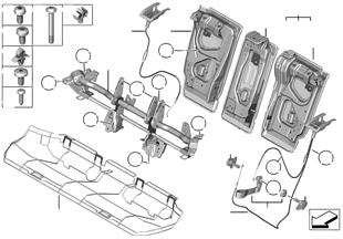 Cadre de siège arrière de base