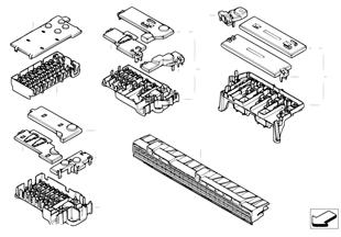 Piezas sueltas p. caja de fusibles