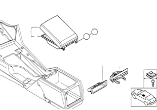 Rear mounting parts of center console