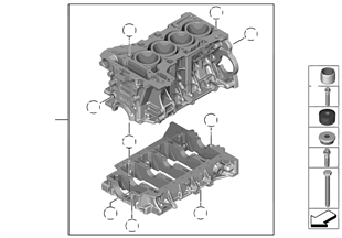 engine bmw 4 f32 428i n20 europe engine block