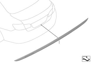 Modanatura Individual cofano posteriore