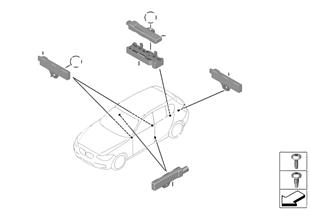 Singoli comp. antenna accesso comfort