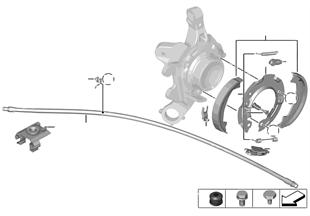 Frein à main / segments de frein