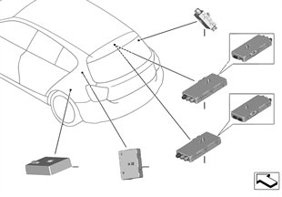 Singoli pezzi amplificatore antenna