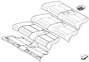 座椅 後部 座墊和座套 標準座椅