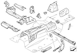 Scheid.wand kofferruimte/Bodemonderdelen