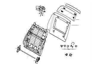 前部座椅-靠背骨架/後面板