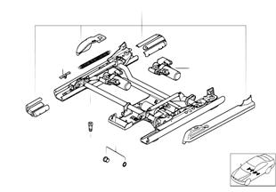 シート、F シート レール 電動式/個別部品