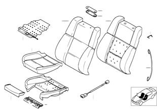 座椅 前部 座墊和座套 運動型座椅