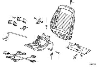 Estrutura banco desportivo BMW eléctr.