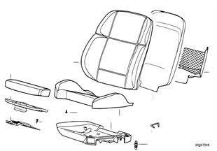 BMW sportovní sedadlo uložení/Skořepina