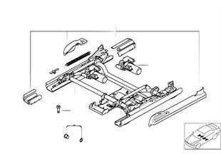 座椅 前部 座椅導軌