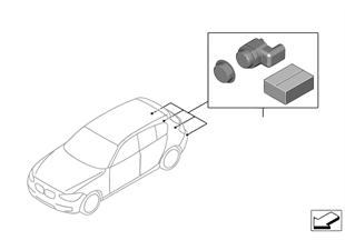 Dodatečná sada parkovací zařízení zadní