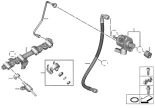 Pompe haute pression/conduites/injecteur