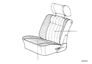 Обивка подушки сиденья Пд