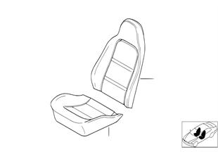 Sitz vorn Polster und Bezug Basissitz