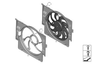 Cerco de ventilador con ventilador